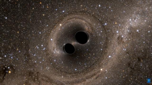 rceni-Dos agujeros negros están a punto de colisión