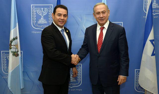 rceni - jimmy morales -Israeñ-embajada-Jerusalen