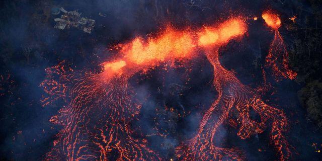 rceni -volcán kilauea en hawái -en - alerta -roja