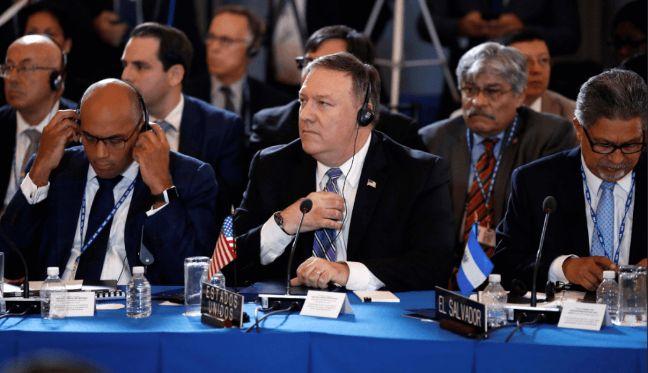 rceni -Mike Pompeo en la OEA - pide -suspender- a- Venezuela -