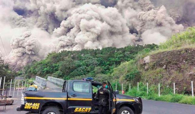 rceni -catástrofe de Volcán de Fuego - Guatemala-centroamerica