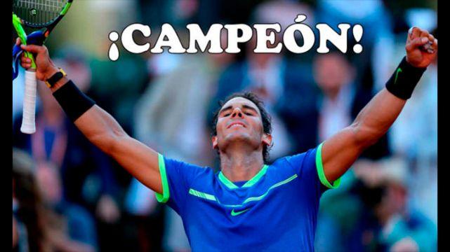rceni -Rafael Nadal Campeón - Gana -EL- ROLAND-GARROS-