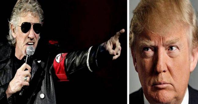 rceni - Trump es un cerdo-parte-del-concierto -de -Roger-Waters.
