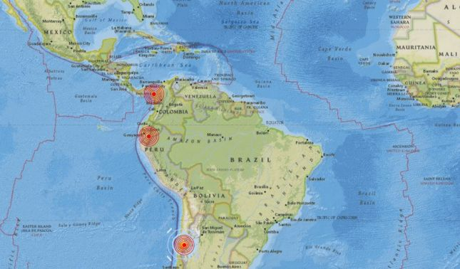 rceni - Sucesión de sismos -sacude- el -Pacífico- de -América -en -menos- de- una -hora-