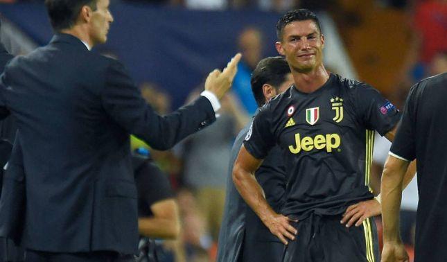 rceni - Tarjeta roja para Cristiano - en- su- primer -partido- en- la- Champions -con- la- Juventus-