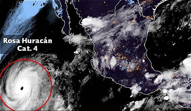 rceni - huracán Rosa - asciende- a- categoría -4 -y -pone -bajo- amenaza- México-