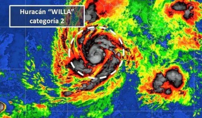 rceni - Huracán Willa -tocara- la- costa- mexicana -del- Pacífico-