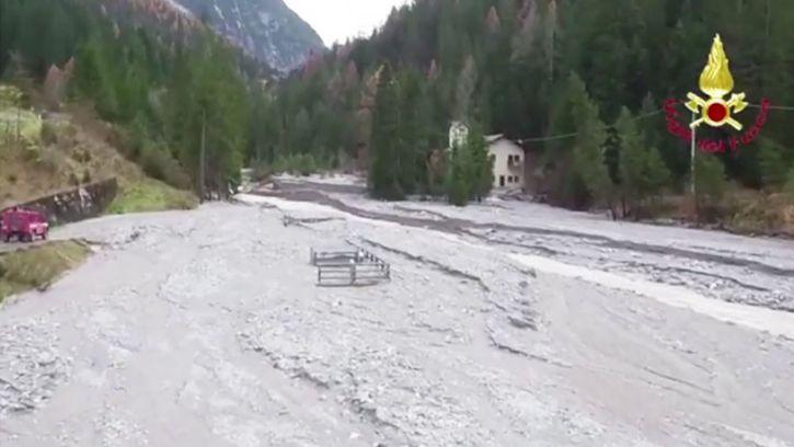 Dramáticas imágenes aéreas tras tormentas al noreste de Italia (VIDEO)