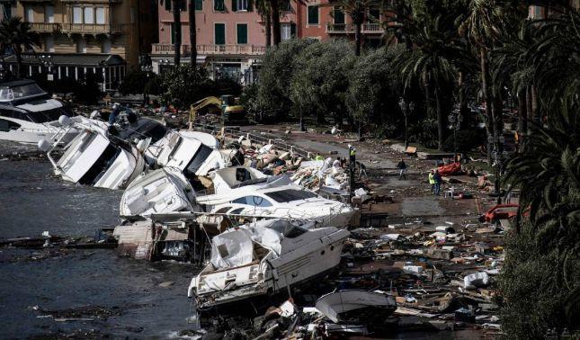 rceni - Noreste de Italia -dramáticas -imágenes- aéreas- tras -tormentas-