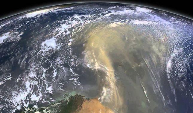 rceni - Partículas de polvo del Sahara- viajan-a -distancias- que -desafían- la -gravedad-