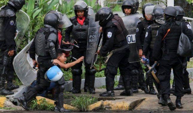 rceni - Policía de Nicaragua -reprime -una -protesta- con -Extrema -violencia-