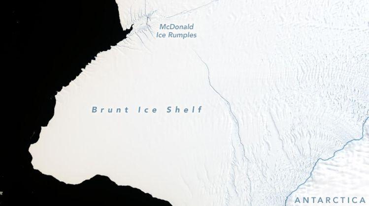 Antártida un iceberg dos veces más grande que Nueva York se va a desprender