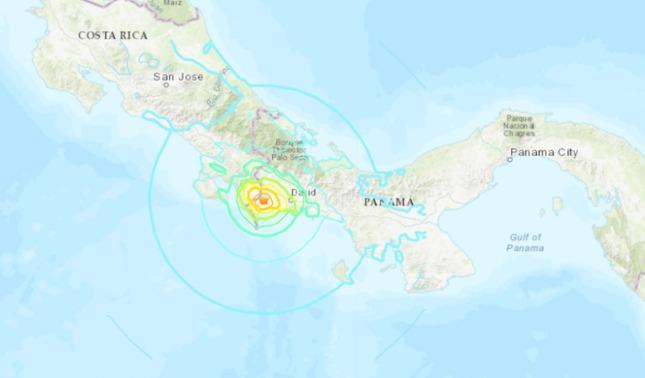 rceni - Frontera entre Costa Rica -y -Panamá- es- sacudida- por -sismo- de- 6.3-