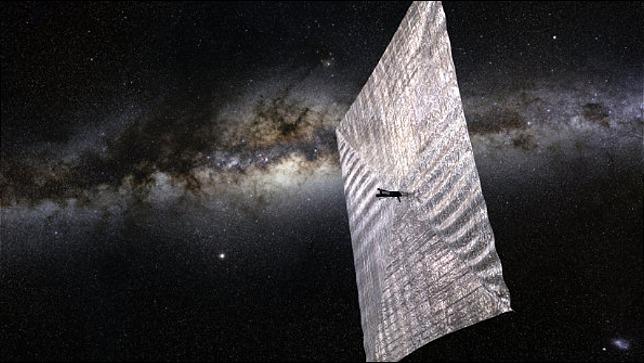 rceni - Vela solar -es- desplegada -en -el -espacio- y -podrá- ser -vista- desde -la- Tierra -