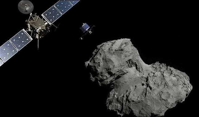 rceni - Sonda Rosetta - capta- objeto -que- se- desprende- de -cometa- y -extraño- sonido-