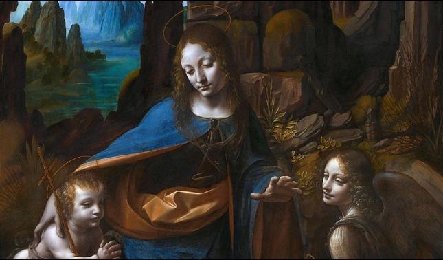 rceni - Vingen de las rocas -de- Da Vinci -consiguen- una- pintura-debajo -de- ella -