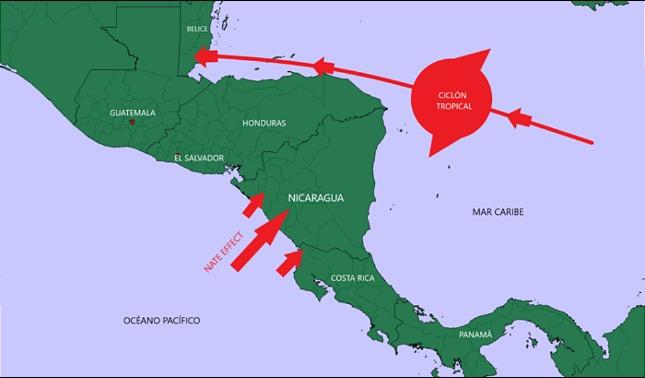 rceni - Ciclón tropical - mantiene -bajo- amenaza- a- toda -Centroamerica-