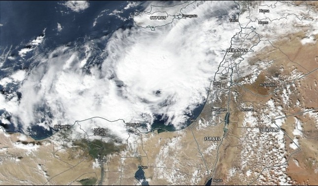 rceni - Raro huracán -mediterráneo -avanza- hacia -Egipto- e- Israel-