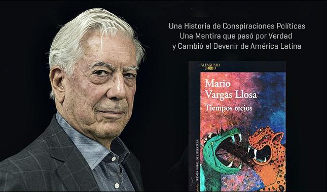 rceni - Tiempos recios - el- libro -Mario -Vargas- Llosa-sera -presentado- en- Guatemala-