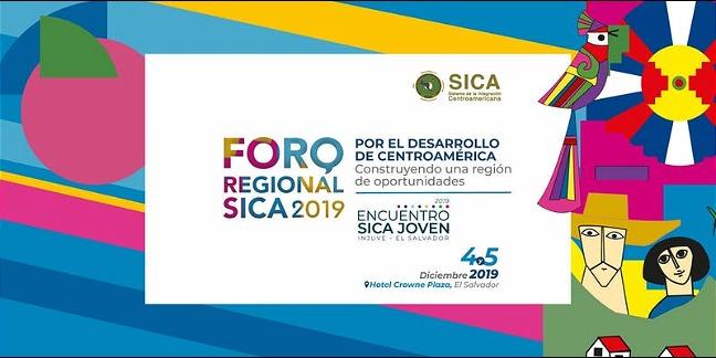 rceni - Foro Regional SICA 2019 -se -desarrollara- el- 4 -y -5 -de- Diciembre -