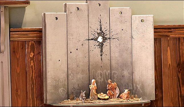 rceni - La cicatriz de belén - nueva -obra- de- Bansky -la -estrena -en- Cisjordania -