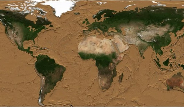 rceni - La tierra sin los océanos- muestran- como- se- veria- en- un- video-