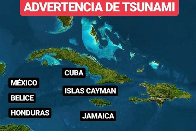 rceni - Terremoto en jamaica - de- 7.7 -emiten -alerta- de -posible- tsunami-