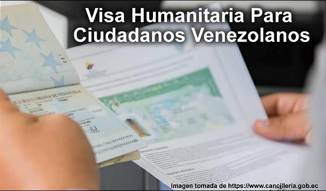 rceni - Visa de excepción -por -razones -humanitarias- para- venezolanos- en -Ecuador -
