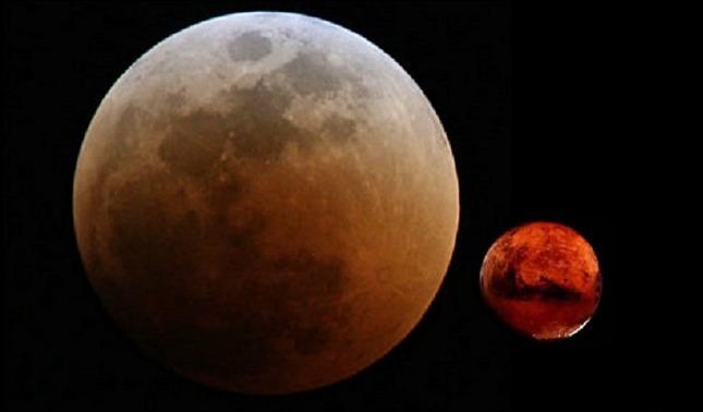 rceni - La luna eclipsa marte - en- un- inusual -espectáculo -celeste-