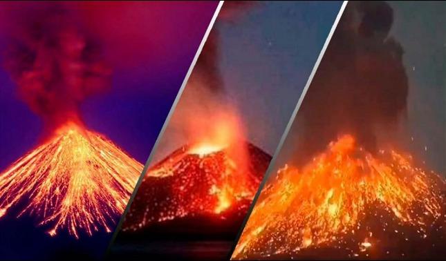 rceni - Anak krakatau -hijo -del -Krakatoa-en -Indonesia -entra -en- erupcion-