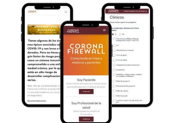 rceni - CoronaFirewall - conecta -en- línea -médicos- y -pacientes- de -covid-19 -