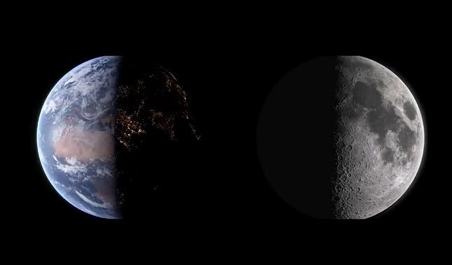 rceni - Video -muestra- cómo- se- ve- la- Tierra -desde- la- Luna- y- viceversa -