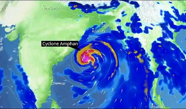 rceni - Súper ciclón Amphan - el -mayor -registrado -afectara- a -la -India -y -Bangladesh -