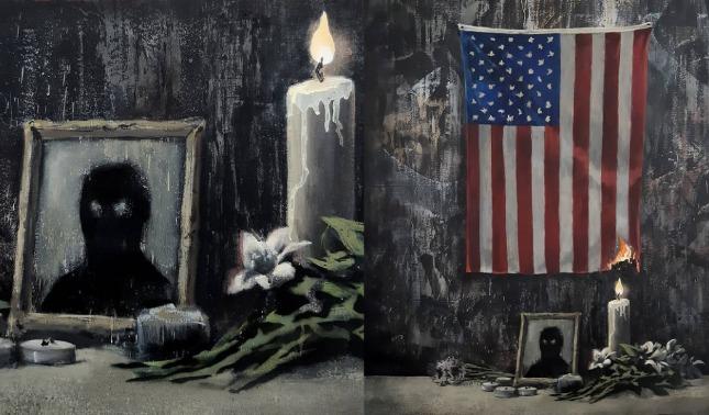 rceni - Artista urbano banksy -dedica- su- nueva -obra- a- George -Floyd -y-al -racismo
