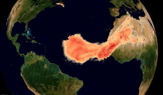 rceni - nube de polvo - gigantesca- del -sahara- es- un- fenomeno- muy- inusual -