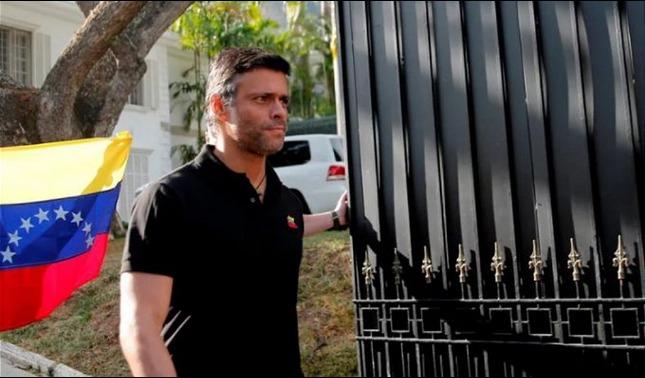 rceni - Leopoldo -López- abandonó- la -embajada -de -España -en- Caracas -
