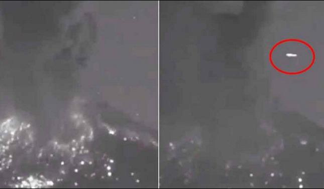 rceni - Ovnis en popocatépetl -multiples- avistamientos -en- este- volcan- de -mexico-
