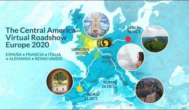 rceni - central america virtual roadshow -de -turismo- prepara -cata- para- Europa-