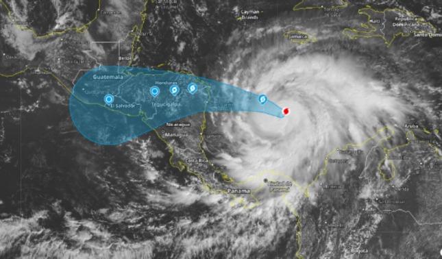 rceni - El huracán Iota -categoría- 5 -avanza -amenazante -hacia -Centroamérica-