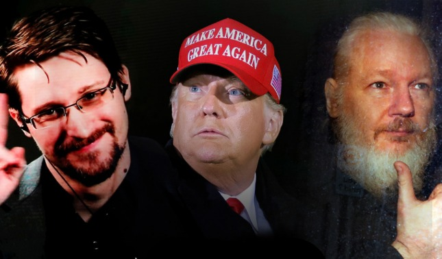 rceni - Snowden -se- dirige -a -Trump -para -pedirle- que -indulte- a -Julian- Assange-