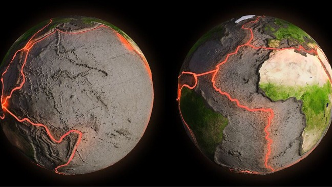 rceni - Las placas tectónicas - estan -ensanchando- al -oceano- Atlantico-