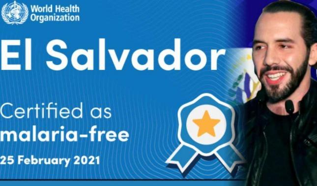 rceni - OMS -declara -a- El -Salvador -como- el- primer- país -de -CA- libre- de- malaria-