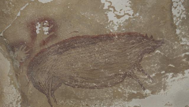 rceni - arte rupestre -mas -antiguo- del -mundo -es- encontrado- en -cueva- de- Indonesia -