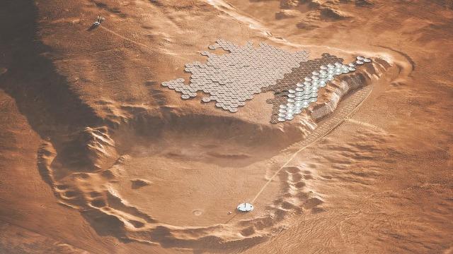 rceni - Ciudad en Marte -es -diseñada- para -ser- construida -dentro- de- una- montaña-