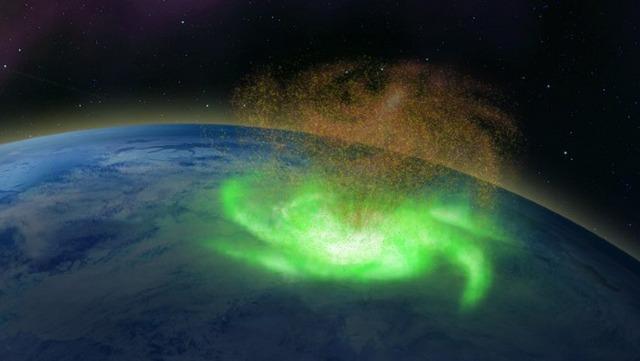 rceni - Huracán espacial -sobre- el -polo -norte -es -captado -por -primera- vez-