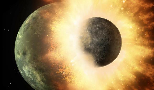rceni - Protoplaneta Theia -suponen -que -hay -pedazos-en -el -manto -de- la -tierra-