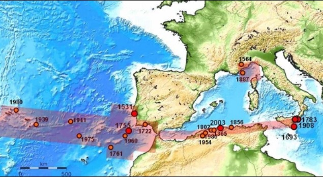 rceni - Peligro sísmico - y -Tsunami- un- estudio -pone- en- alerta- a -España-